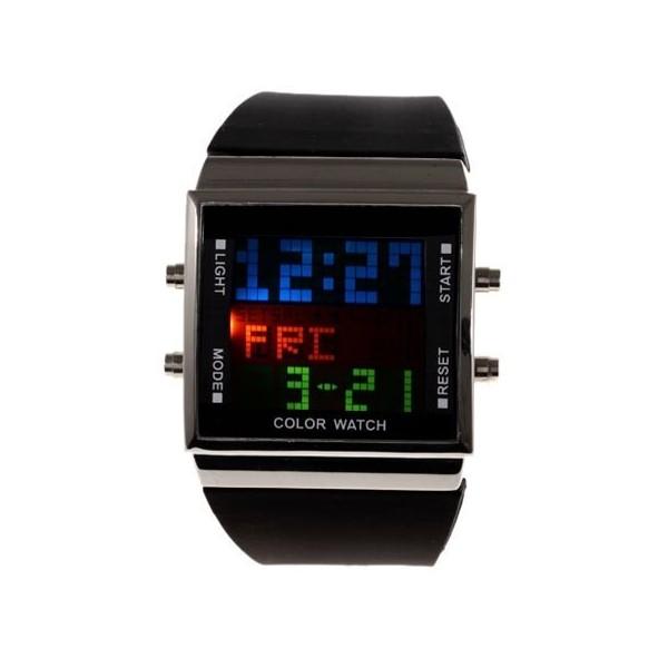 Vitiok Shevchuk. Наручные часы с модным LED-дисплеем. Эти часы не только показывают сколько сейчас времени